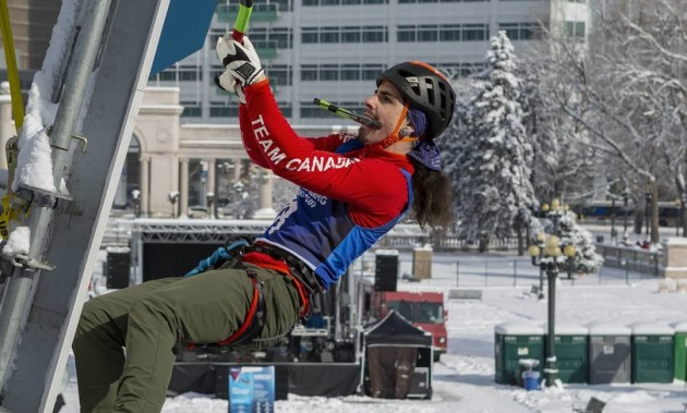 DAVID BOUFFARD WINS SILVER MEDAL | At UIAA Ice Climbing World Cup in Denver