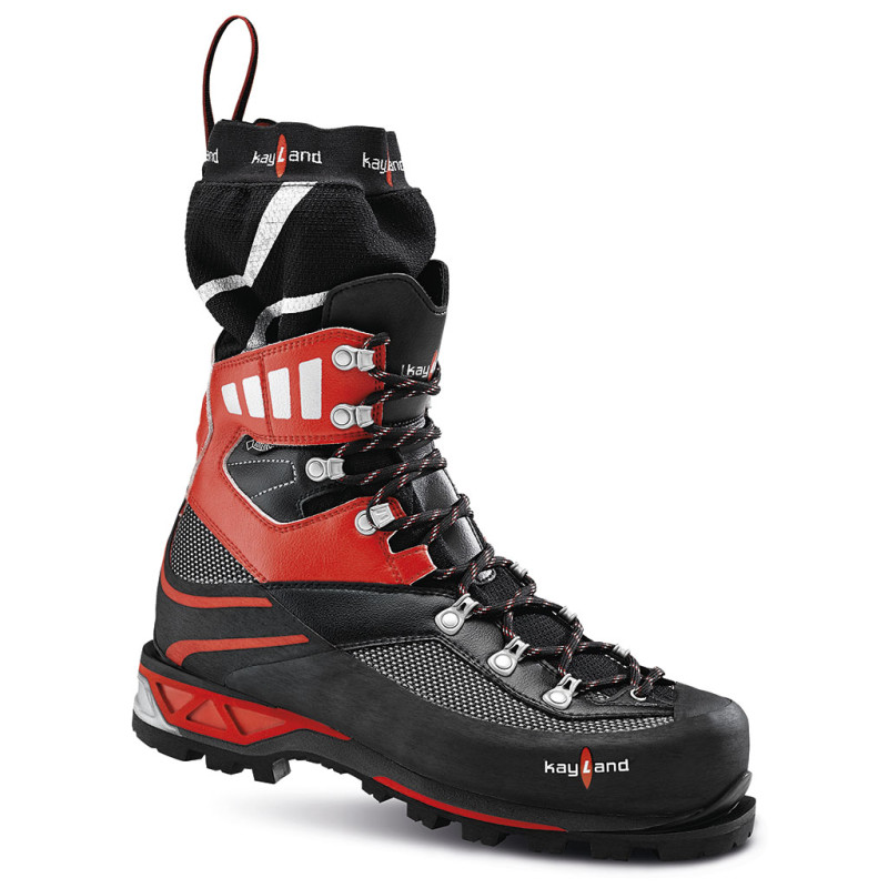 apex plus evo gtx black red - scarpone da alpinismo invernale